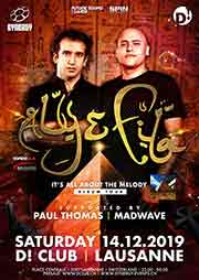 SYNERGY at D! Club Lausanne w/ Aly & Fila - D! Club, Lausanne (VD) - Sa. 14.12.2019