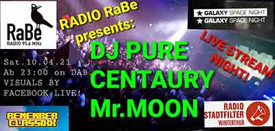 RADIO RaBe LIVE STREAM mit DJ PURE- SAMSTAG, 10. APRIL 2021