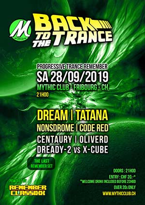 Back To The Trance - Mythic Club, Fribourg (FR) - Sa. 28.09.2019