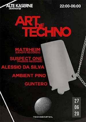 Art of Techno - Alte Kaserne, Zürich (ZH) - Sa. 27.06.2020