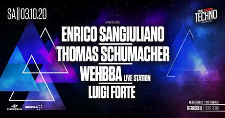 We Love Techno - The Show - Drumcode Night - Bierhübeli, Bern (BE) - Sa. 03.10.2020