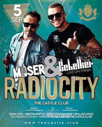 Radiocity mit Moser & Schelker - The Castle Club, Thun (BE) - Sa. 05.09.2020