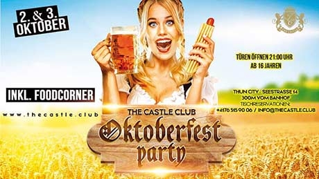 Oktoberfest Party - The Castle Club, Thun (BE) - Fr. 02.10.2020
